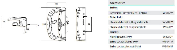 whitco double cylinder deadlatch installation instructions
